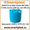 Резервуар для воды 3000 литров Емкость ЭВЛ-3000 Экопром
